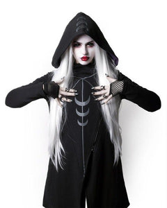 Gothic Moons Long Sleeve Loosed Hooded Sweatshirt