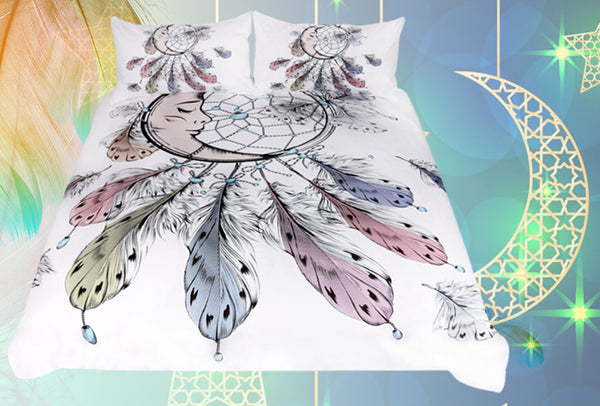 3pc Moon Dreamcatcher Bedding Set
