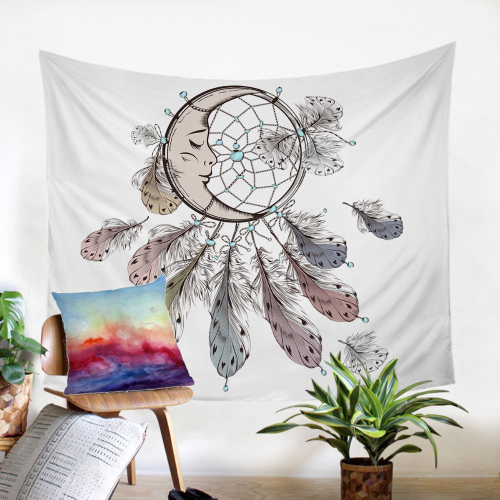 Moon Dreamcatcher Tapestry Decorative Wall Hanging