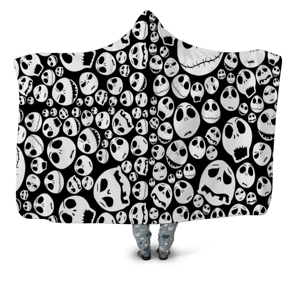 Nightmare Before Christmas Hooded Blanket