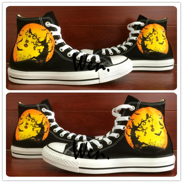 Halloween Pumpkin High Top Sneakers