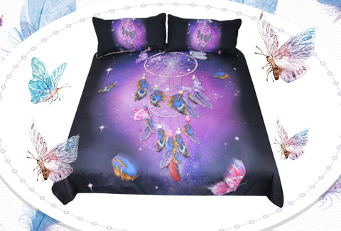 Dream like Butterflies Dreamcatcher Duvet Bedding Set