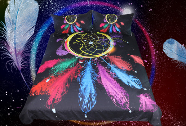 Dream Catcher Moon Duvet 3pc Bedding Set