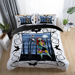2-3pcs Nightmare Before Christmas Bedding