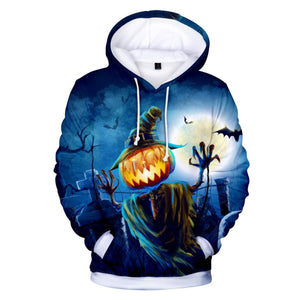 The Horror Pumpkin 3D Hooded Sweatshirt