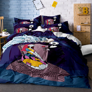 3pcs Nightmare Before Christmas Jack & Sally Bedding