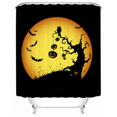 Halloween Pumpkin Shower Curtains