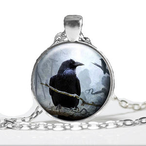 Raven Pendant Necklace