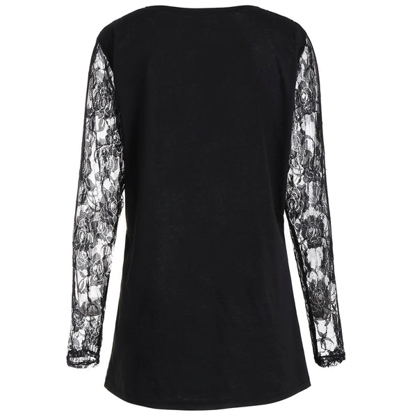 Halloween Night Lace Panel Shirt