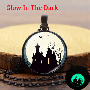 Luminous Creepy Castle Pendant Necklace
