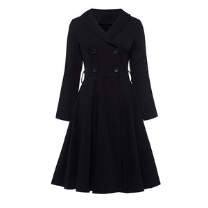 Rosetic A-Line Double-breasted Button Coat