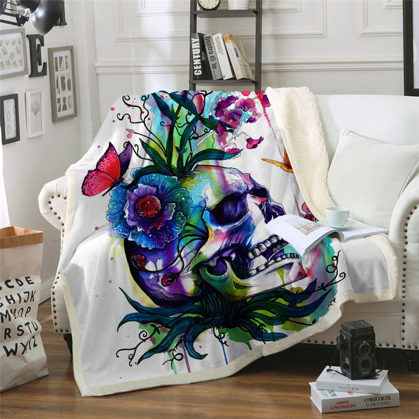 Candid By Pixie Cold Art Velvet Plush Throw Blanket