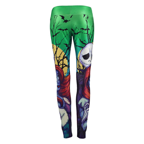NADANBAO Summer Autumn Women Leggings Nightmare Before Christmas