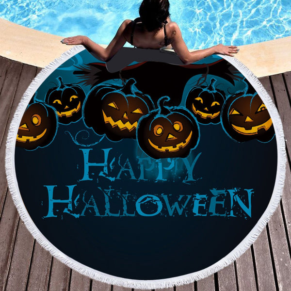 Halloween 150cm Round Multi Purpose Beach Towel