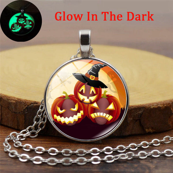 Luminous Halloween Pumpkin Necklace