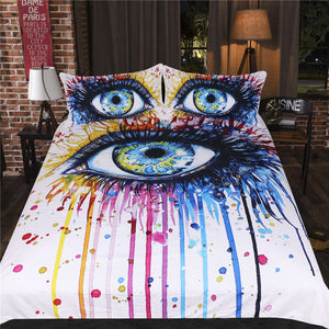 Rainbow Fire By Pixel Cold Art 3pc Duvet Bedding Set