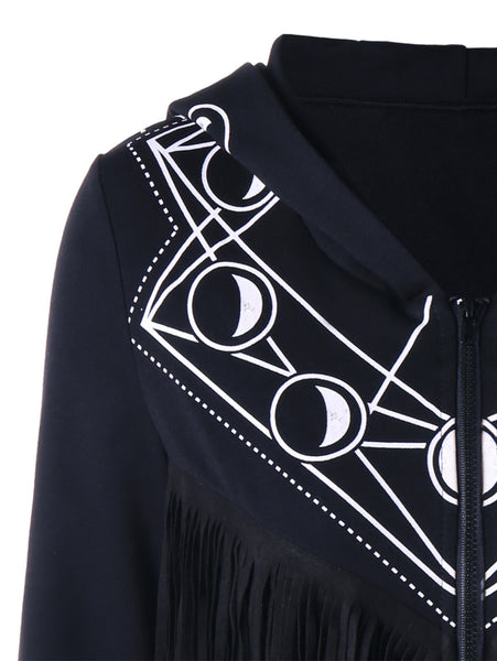 Black Moon Fringe Casual Pull Over