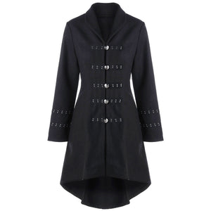 Zaful Metal Embellished Long Coat