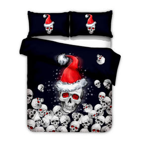 The Christmas Skull Duvet Bedding Set