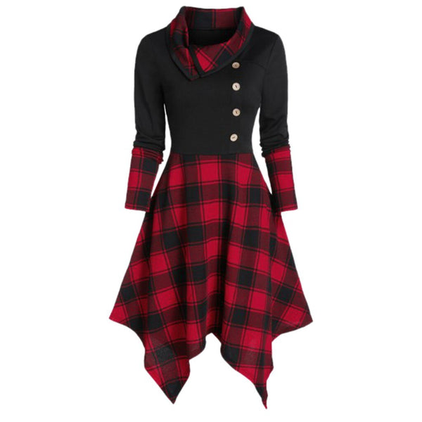 Gothic Style Plaid Dress