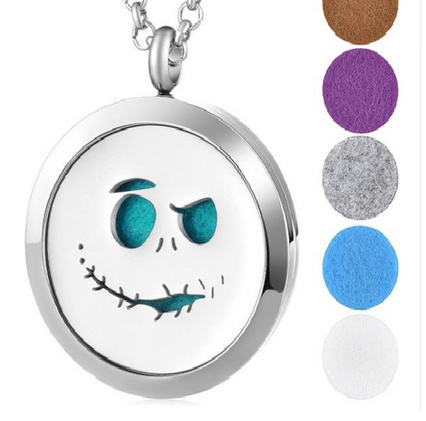 Jack Skellington Aromatherapy Diffuser Locket Necklace