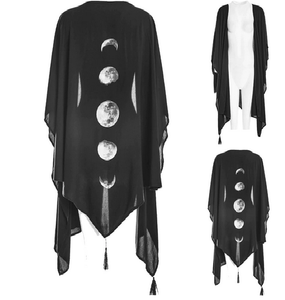 Gothic Asymmetrical Moon Phases Cardigan