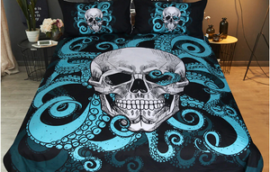 Skull Octopus 3pc Gothic Bedding