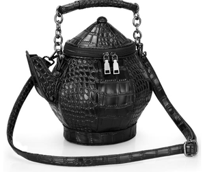 3D Gothic Style Teapot Kettle Shoulder Purse Bag