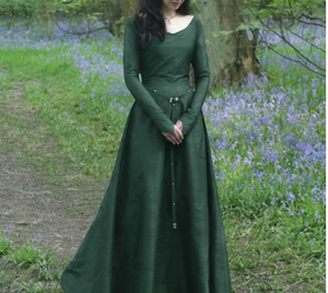Gothic Long Medieval Vintage Dress Costume