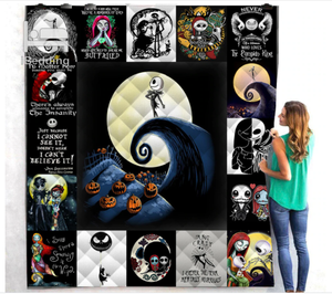 The Nightmare Before Christmas Printed Quilt Blanket