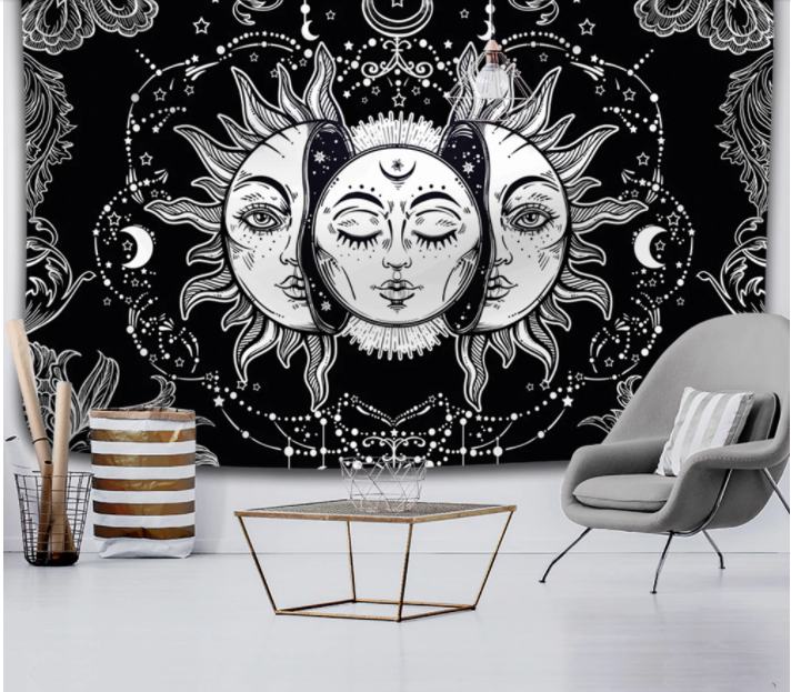 Sun & Moon Wall Hanging Tapestry