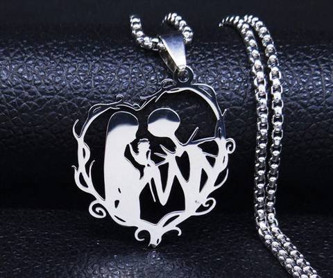 Nightmare Before Christmas Jack and Sally Necklace