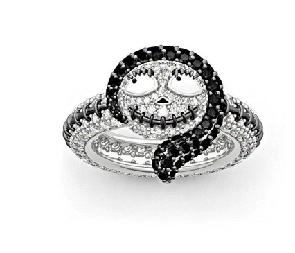 NEW Nightmare Before Christmas Jack and Sally Rings