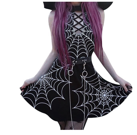 Spider Web Gothic Dress