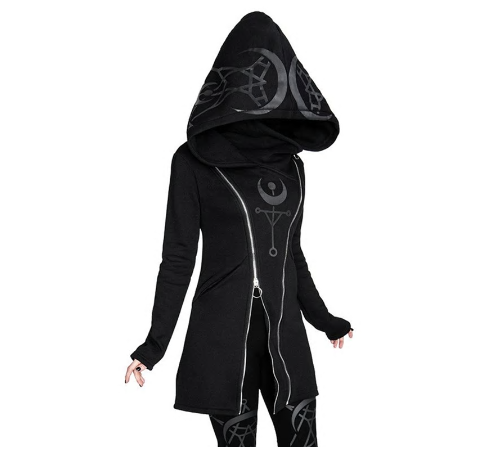Gothic Zipper Up Hoodie