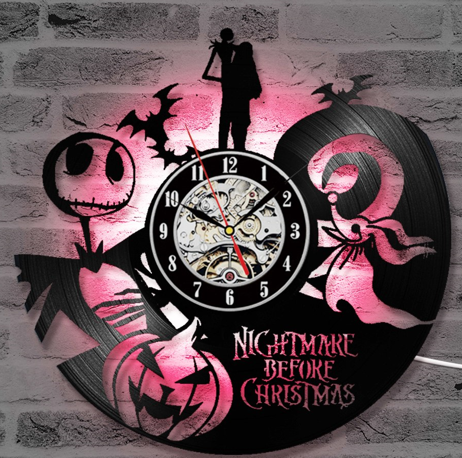 The Nightmare Before Christmas LED Colors Wall Clock