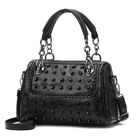 Rivets Chain Stylish Handbag
