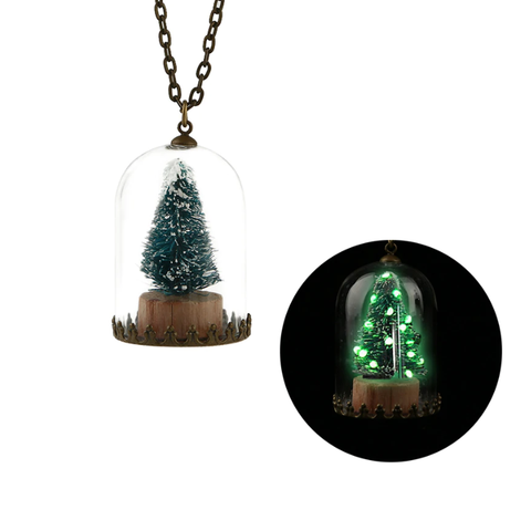 Luminous Christmas Tree Pendant Necklace