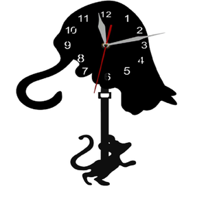 Cat And Mouse Pendulum Clock
