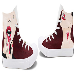 Wen's  Custom Hand Painted Vampires Thirst Women's  Canvas Sneakers