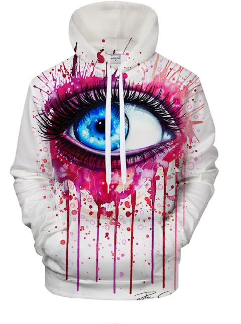 Pink  By Pixie Cold Art 3D Hooded Sweatshirt