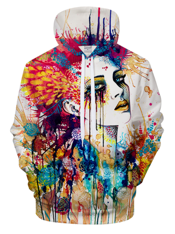 Flora By Pixie Cold Art 3D Hooded Sweatshirt
