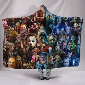 Horror Characters Hooded Blanket