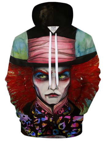 The Mad Hatter By Pixie Cold Art Hooded Sweatshirt