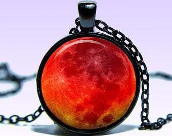Blood Moon Pendant Necklace