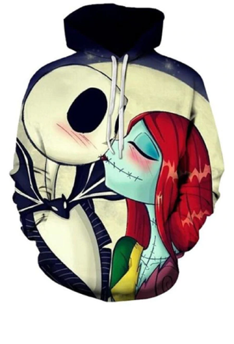 Nightmare Kiss 3D Print Hooded Sweatshirt