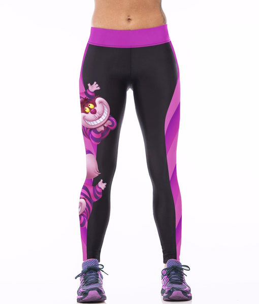 Alice in Wonderland Cheshire Cat 3D Print Leggings