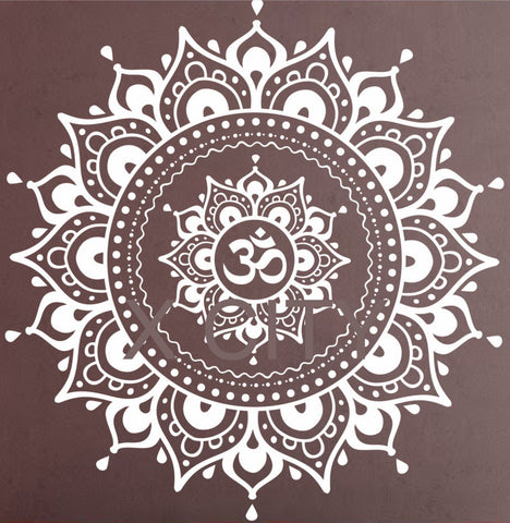 Mandala Pattern Wall Decal Vinyl Yoga Lotus Meditation Home Decor