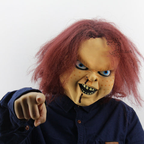 Halloween Scary Child's Play Latex Realistic Chucky Mask