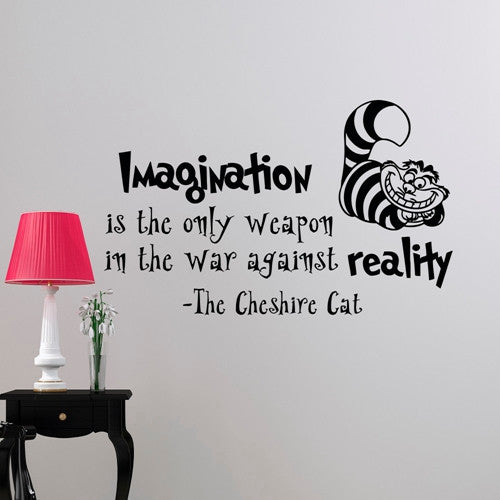 Alice In Wonderland Wall Sticker Cheshire Cat Quote Vinyl Decals